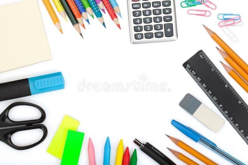 Skola- och kontorshjälpmedel arkivfoton