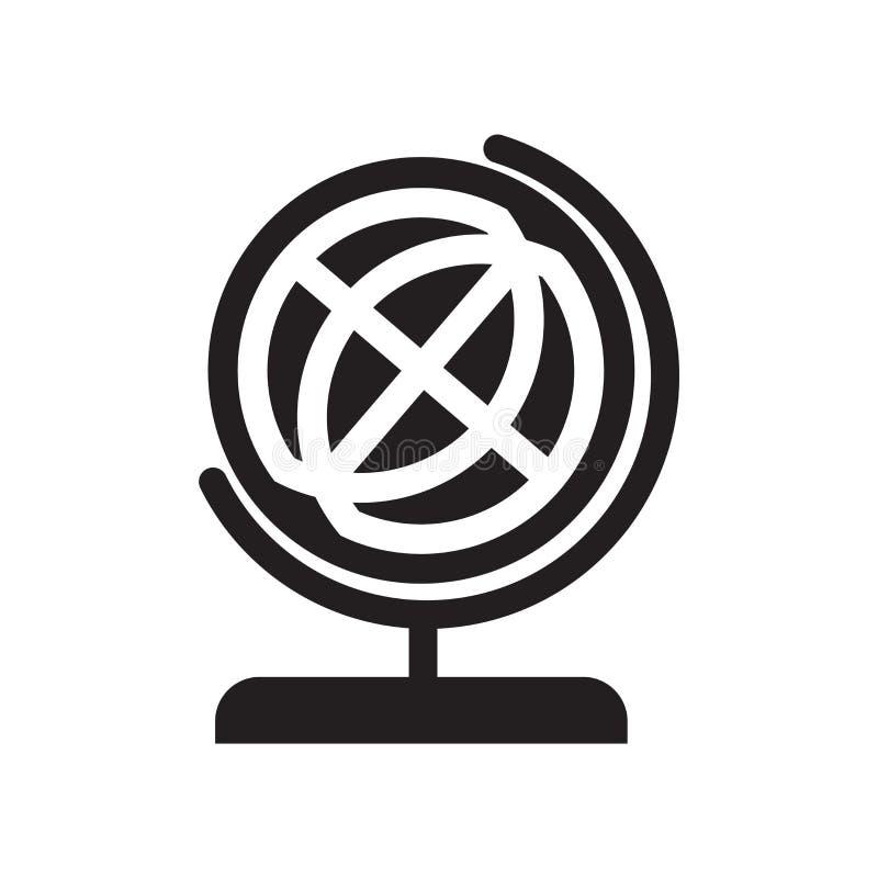 Skola tecknet och symbolet för jordklotsymbolsvektor som isoleras på vit backg vektor illustrationer