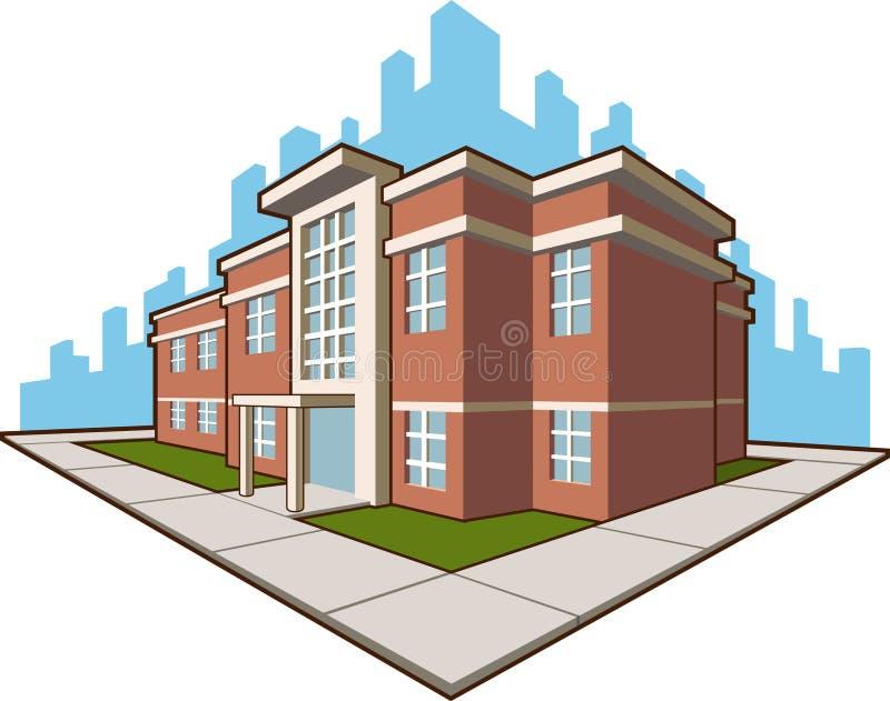 Skolabyggnad stock illustrationer