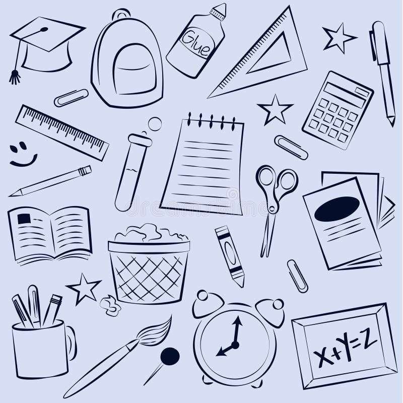 Skolaelementbakgrund royaltyfri illustrationer