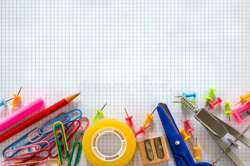 Skolakontorstillförsel arkivfoto