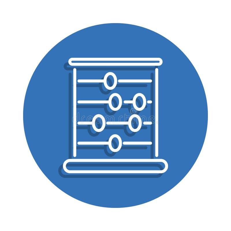Skolakulramsymbol Beståndsdel av utbildning för mobilt begrepp och rengöringsdukappssymbol Gör linjen symbol med skugga i embleme vektor illustrationer