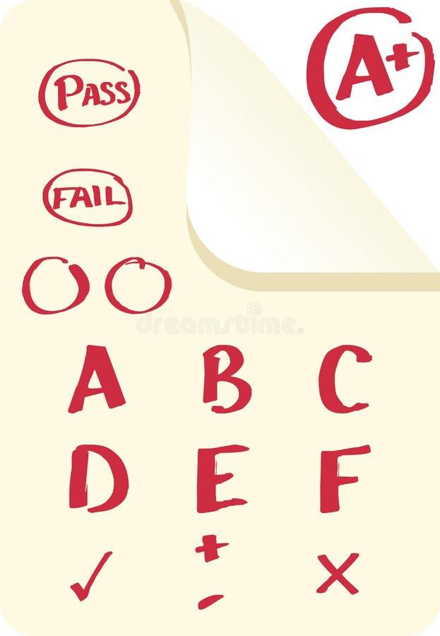 Skolakvaliteter vektor illustrationer