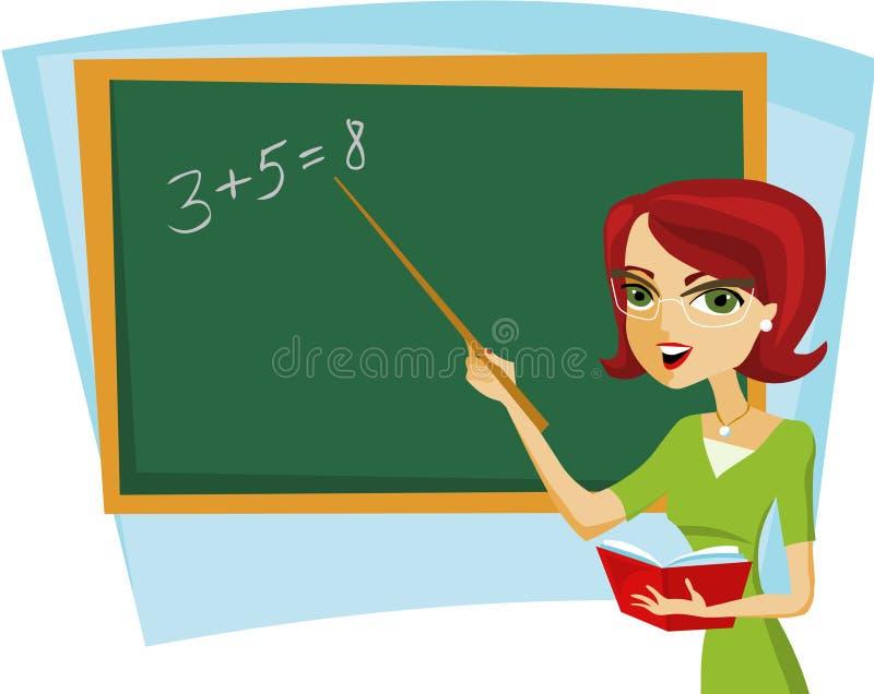 Skolalärare vektor illustrationer