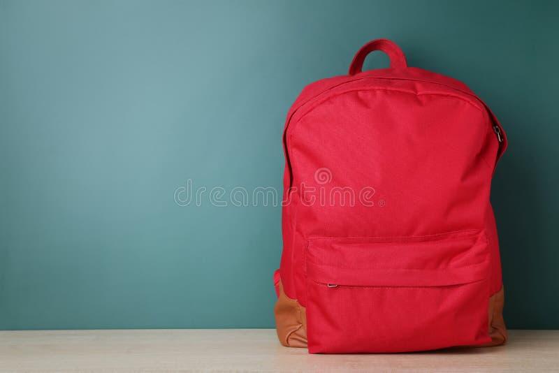 Skolaryggsäck arkivfoto
