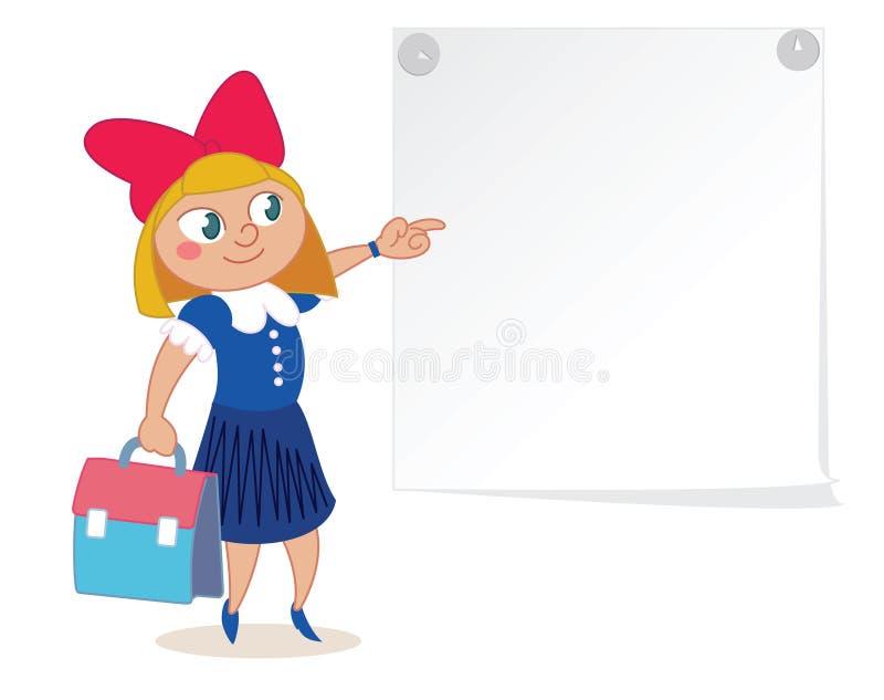 Skolastudenttecken vektor illustrationer