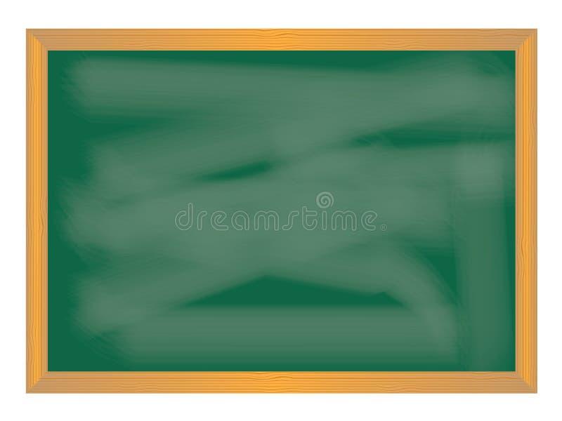Skolasymboler på tavlan stock illustrationer