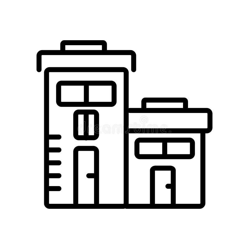 Skolasymbolsvektor som isoleras på vit bakgrund, skolatecken, l stock illustrationer