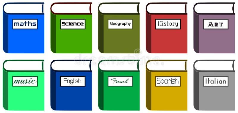 Skolböcker vektor illustrationer