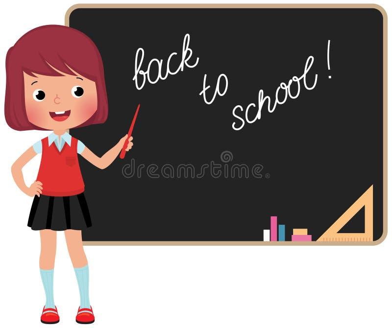 Skolbarnanseende på svart tavla vektor illustrationer