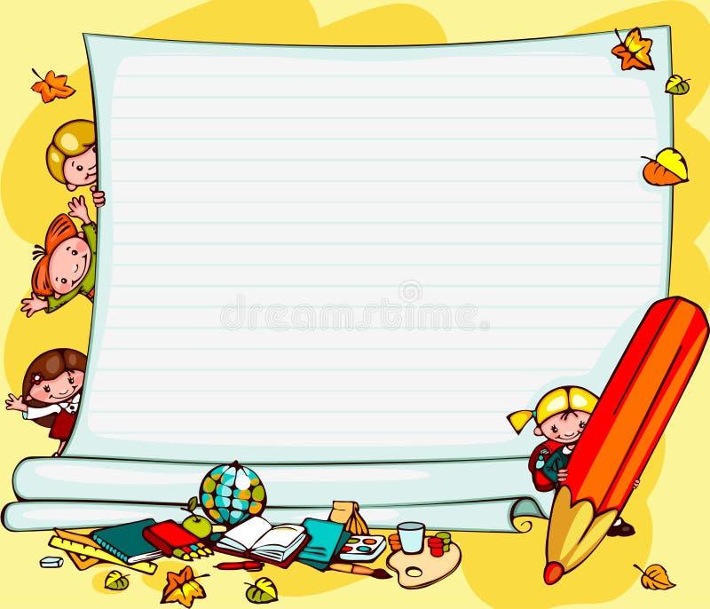 Skolbarns bakgrund vektor illustrationer