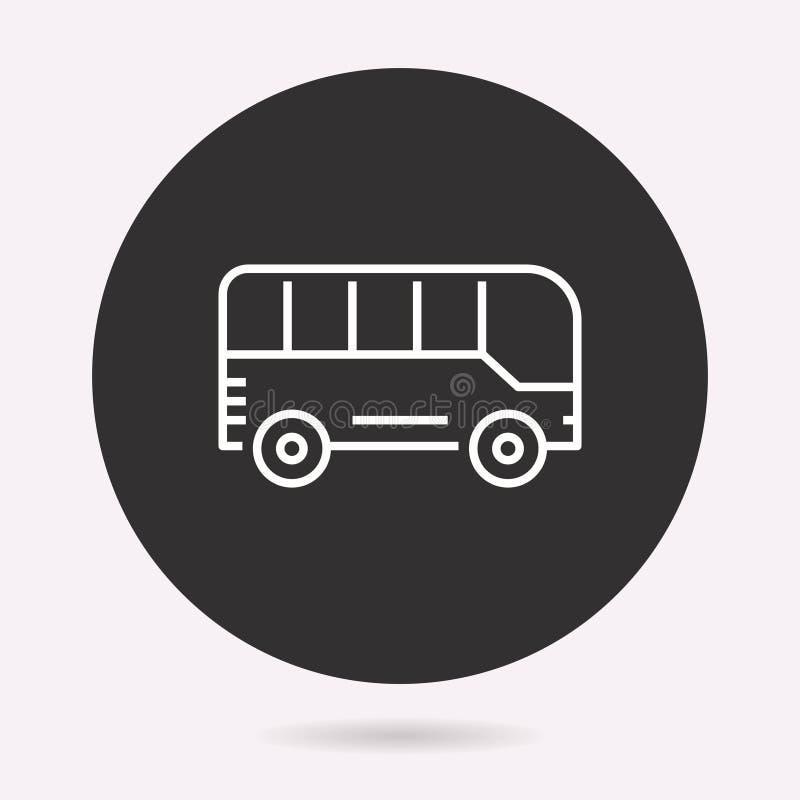 Skolbuss - vektorsymbol Isolerad illustration enkel pictogram vektor illustrationer