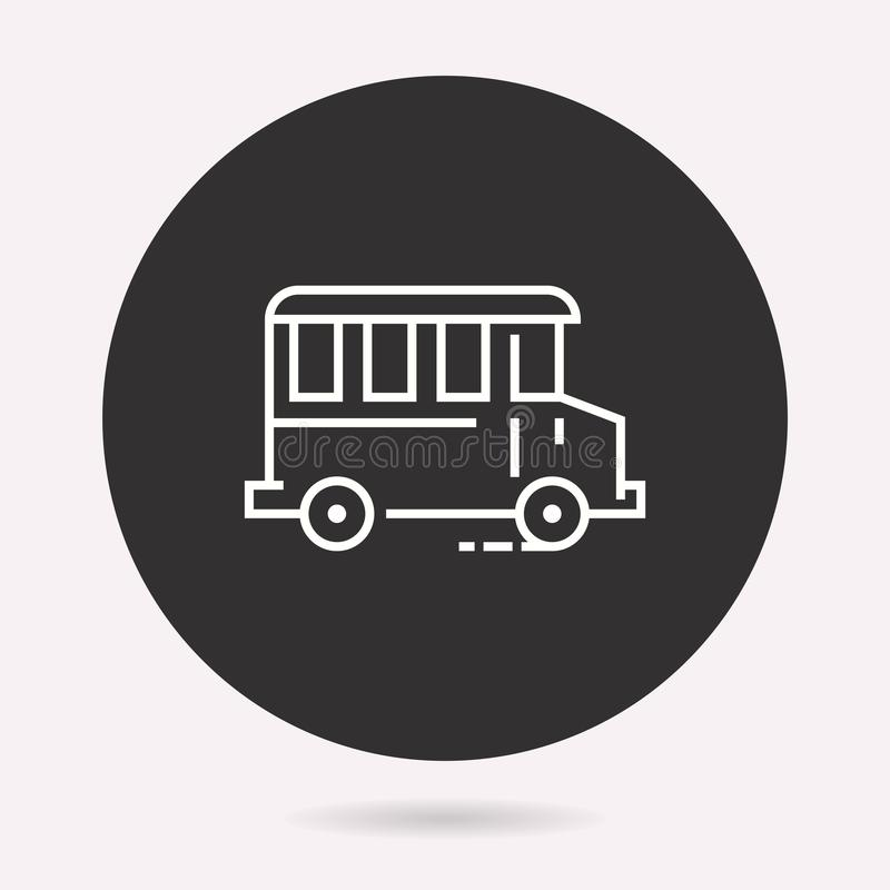 Skolbuss - vektorsymbol Isolerad illustration enkel pictogram stock illustrationer