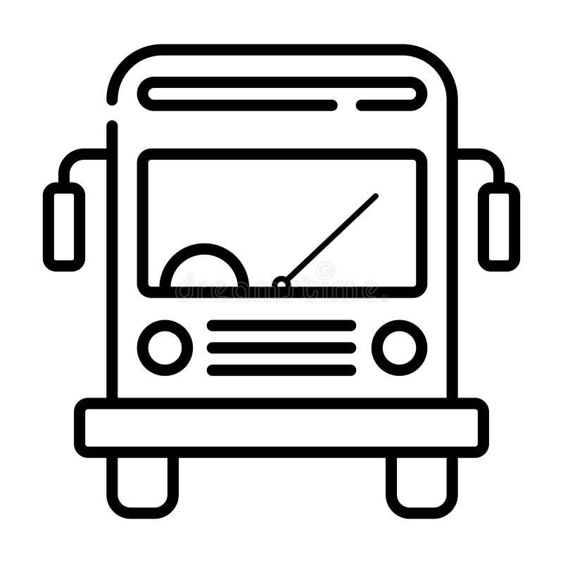 Skolbusssymbol royaltyfri illustrationer