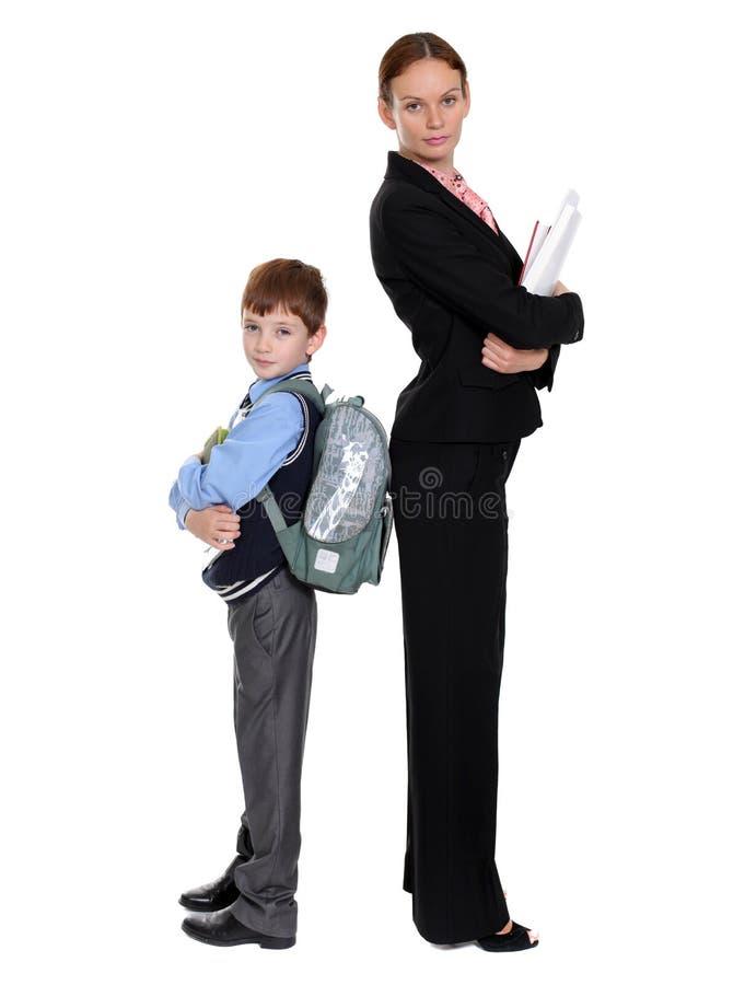 Download Skolpojke och lärare arkivfoto. Bild av businesspeople - 37347514