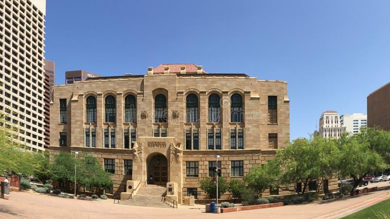 Skomplikowana architektura Stary Phoenix urząd miasta fotografia royalty free