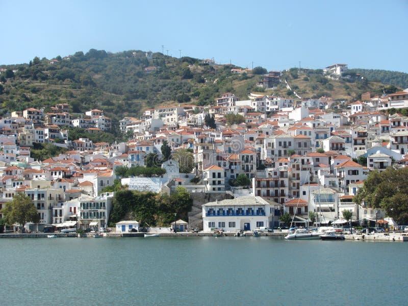 Skopelos dell'isola in Grecia fotografia stock libera da diritti