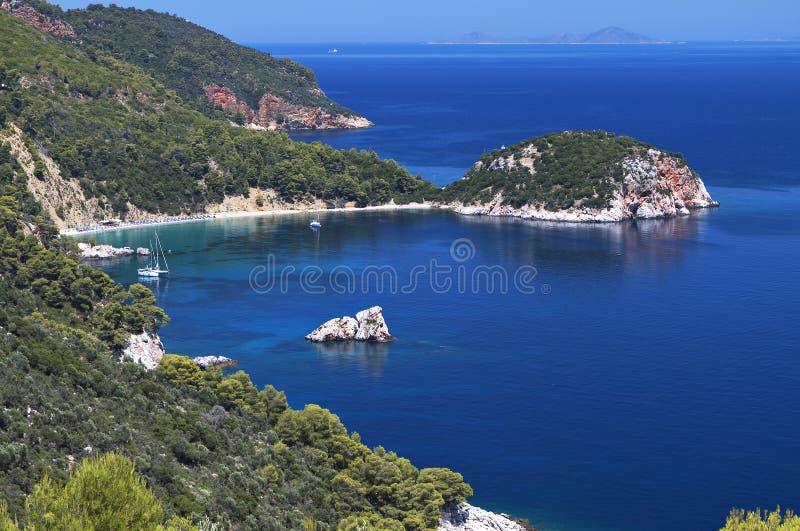 Download Skopelos island in Greece stock photo. Image of north - 31975510