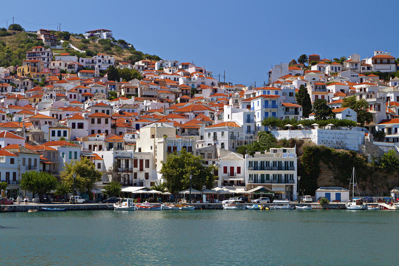 Download Skopelos island in Greece stock image. Image of aegean - 31975531