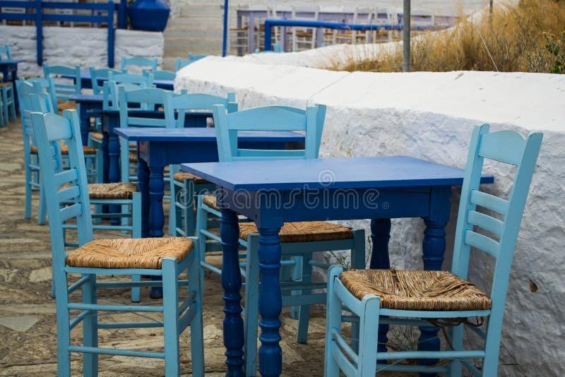 Skopelos wyspy tradycyjny taverna obraz stock