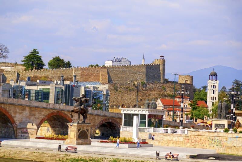 Skopje del centro, Repubblica macedone fotografie stock
