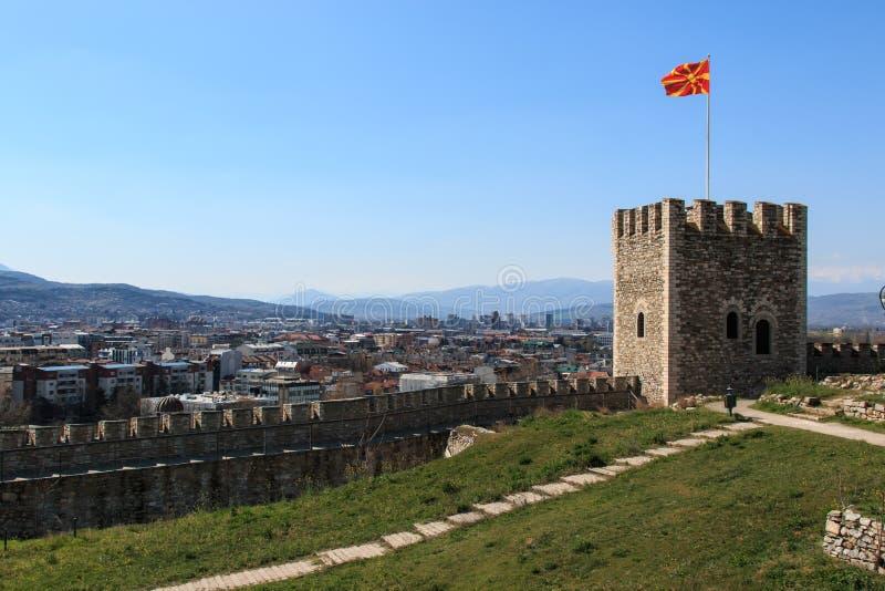 Skopje forteca, Castel, Macedonia obraz royalty free