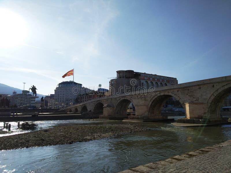Skopje kamienia most obrazy royalty free