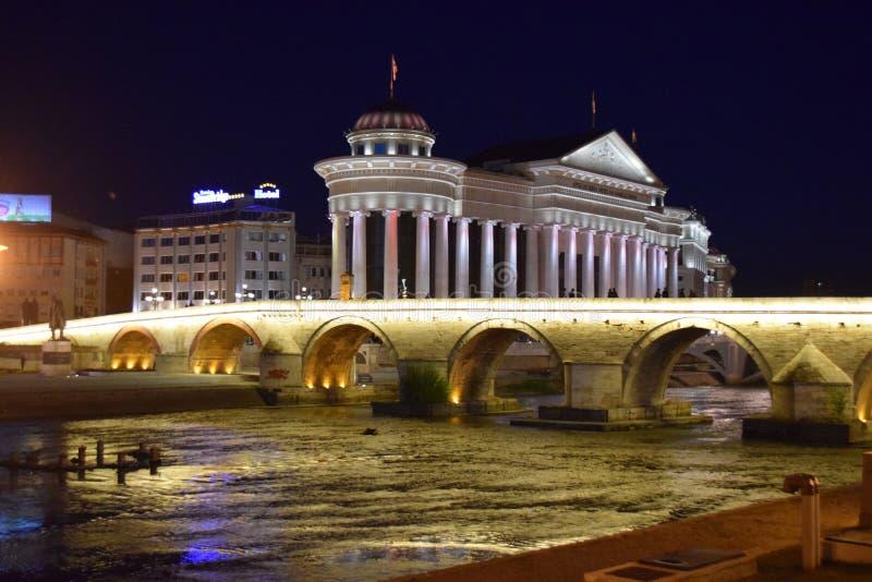Skopje macedonia royaltyfria foton