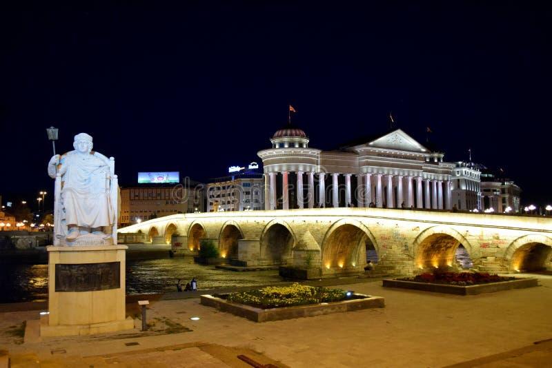 Skopje macedonia royaltyfri foto