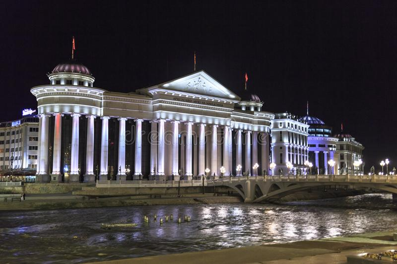 View from downtown Skopje, the Macedonian capital royalty free stock images
