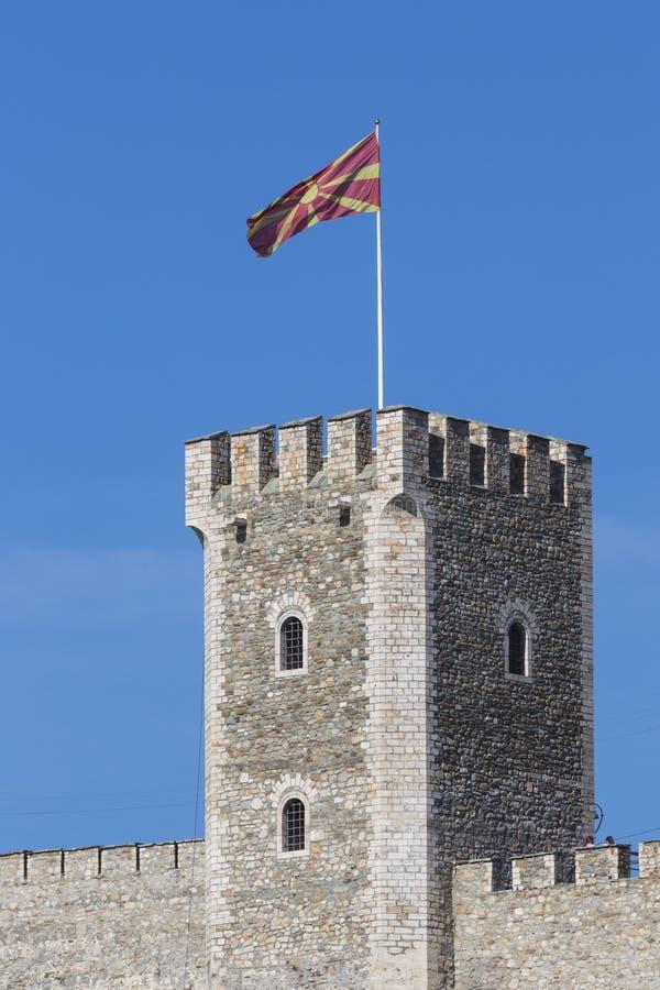 SKOPJE, MACEDONIA - 15 APRILE: La fortezza del cavolo è un fortre storico immagini stock