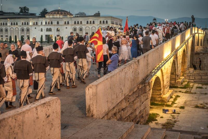 SKOPJE MACEDONIA-AUGUST 28,2018 arkivfoton