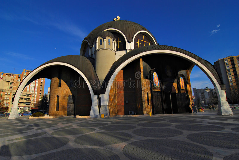 Skopje macedonia church royalty free stock photo