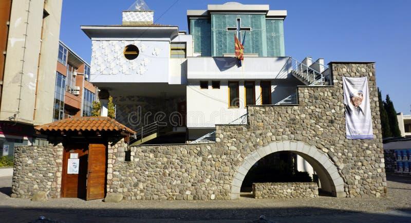 Skopje, Macedonia, circa September 2019: Birth House of Mother Theresa. Skopje, Macedonia, circa September 2019: Birth House of the  Mother Theresa royalty free stock photo