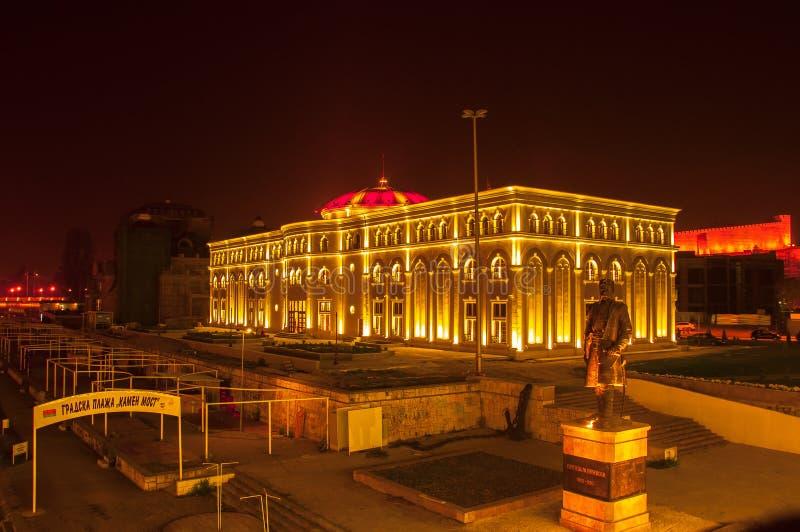 Skopje Macedonia, Listopad, - 2011 Muzeum Macedo?ska walka zdjęcie royalty free