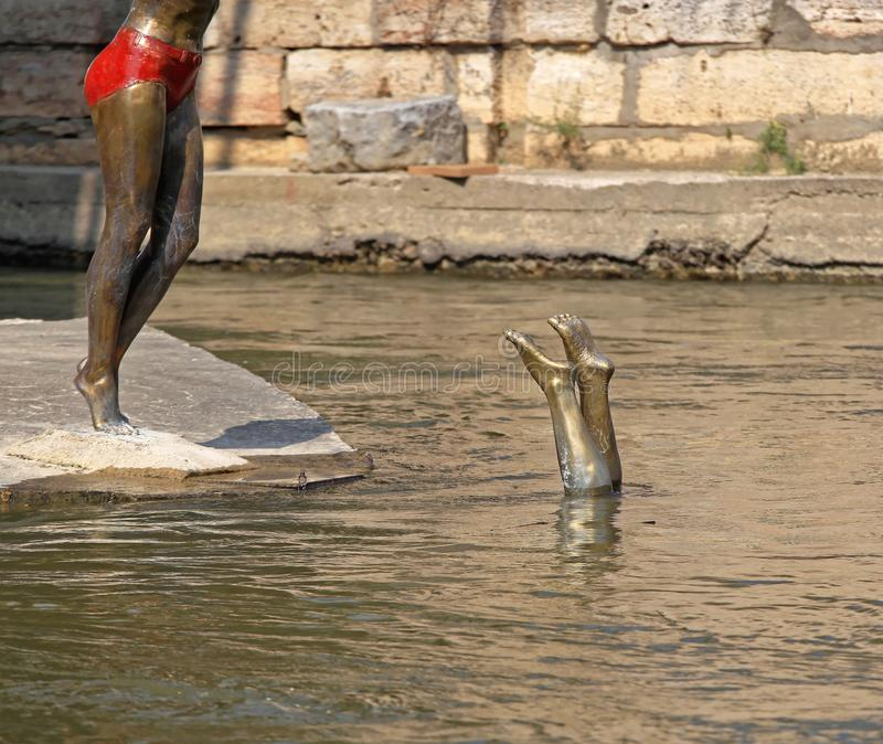 Swimmer Statue Diving royalty free stock photos