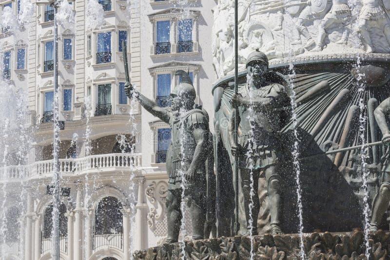 SKOPJE MAKEDONIEN - APRIL 14, 2016: Staty av Alexander det stort arkivfoto