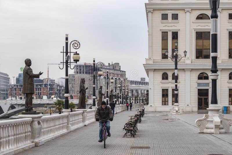 View of Dimitar Valhov Walk royalty free stock photography