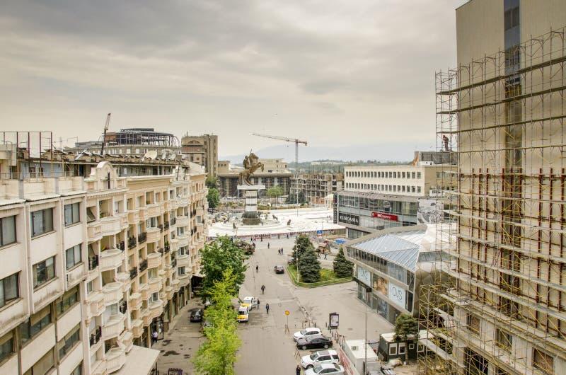 """Skopje 2014, panorama del †della Macedonia """" fotografia stock libera da diritti"""