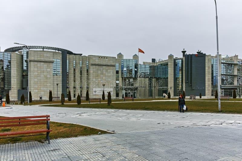 SKOPJE, REPUBBLICA MACEDONE - 24 FEBBRAIO 2018: Museo di olocausto in città di Skopje immagini stock libere da diritti