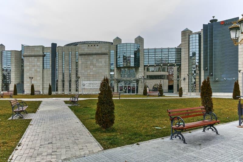 SKOPJE, REPUBBLICA MACEDONE - 24 FEBBRAIO 2018: Museo di olocausto in città di Skopje fotografia stock libera da diritti