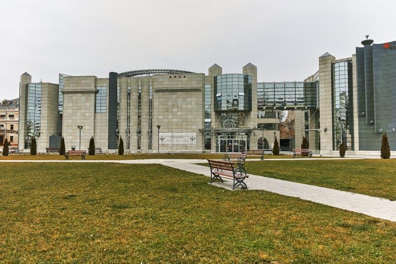 SKOPJE, REPUBBLICA MACEDONE - 24 FEBBRAIO 2018: Museo di olocausto in città di Skopje fotografie stock libere da diritti