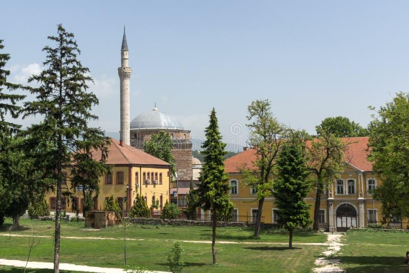 SKOPJE, REPUBBLICA MACEDONE - 13 MAGGIO 2017: Moschea del ` s di Mustafa Pasha a Skopje fotografia stock libera da diritti