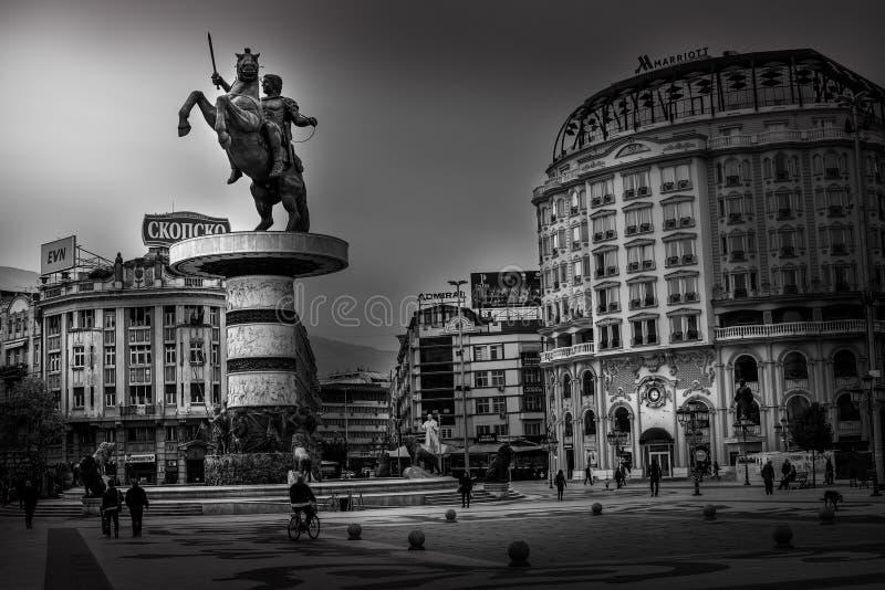 Skopje - Republiken Makedonien royaltyfri fotografi