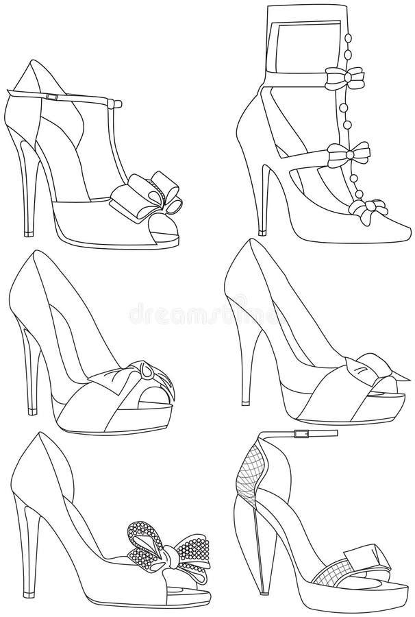skor stock illustrationer