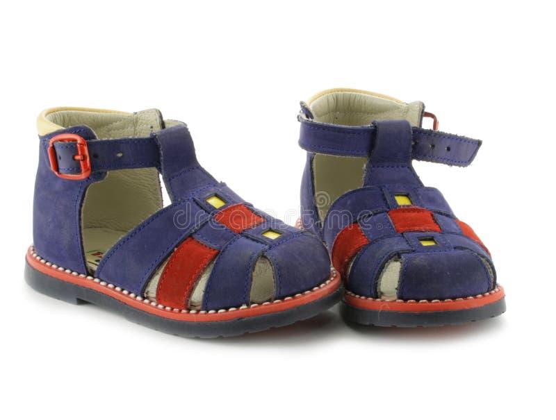 skor för barn s royaltyfria foton