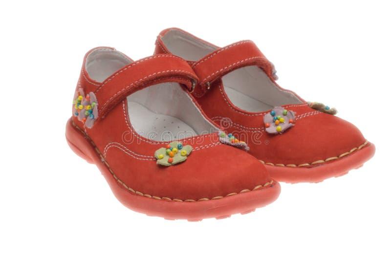 skor för barn s fotografering för bildbyråer