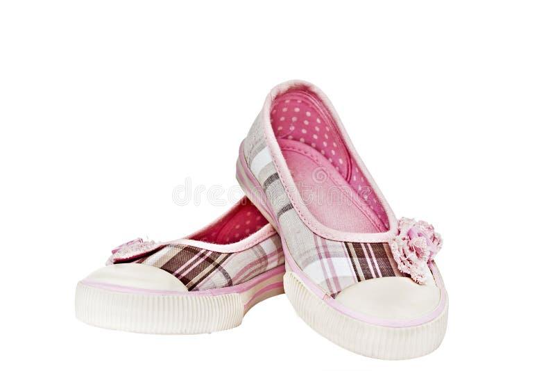 skor för barn s royaltyfri fotografi