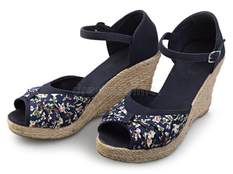 skor för begreppsmodekvinnlig arkivfoto