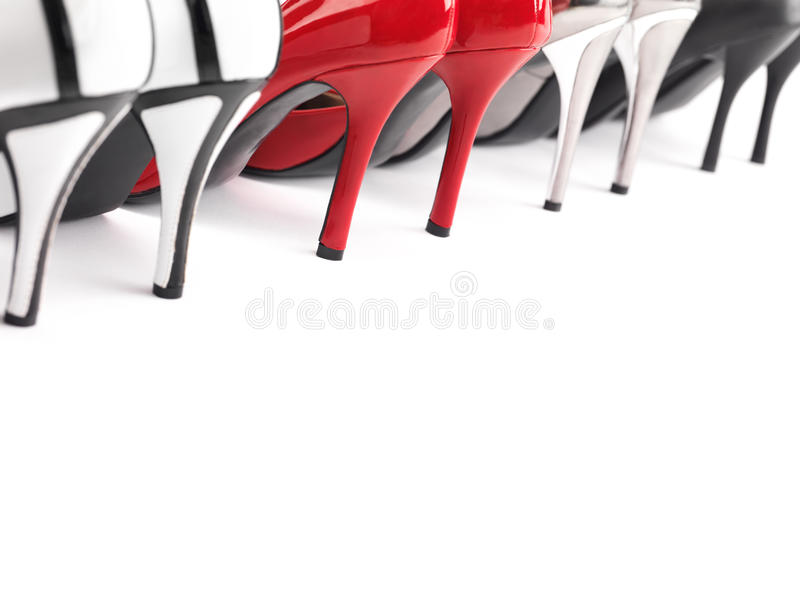 Skor för hög häl arkivfoto
